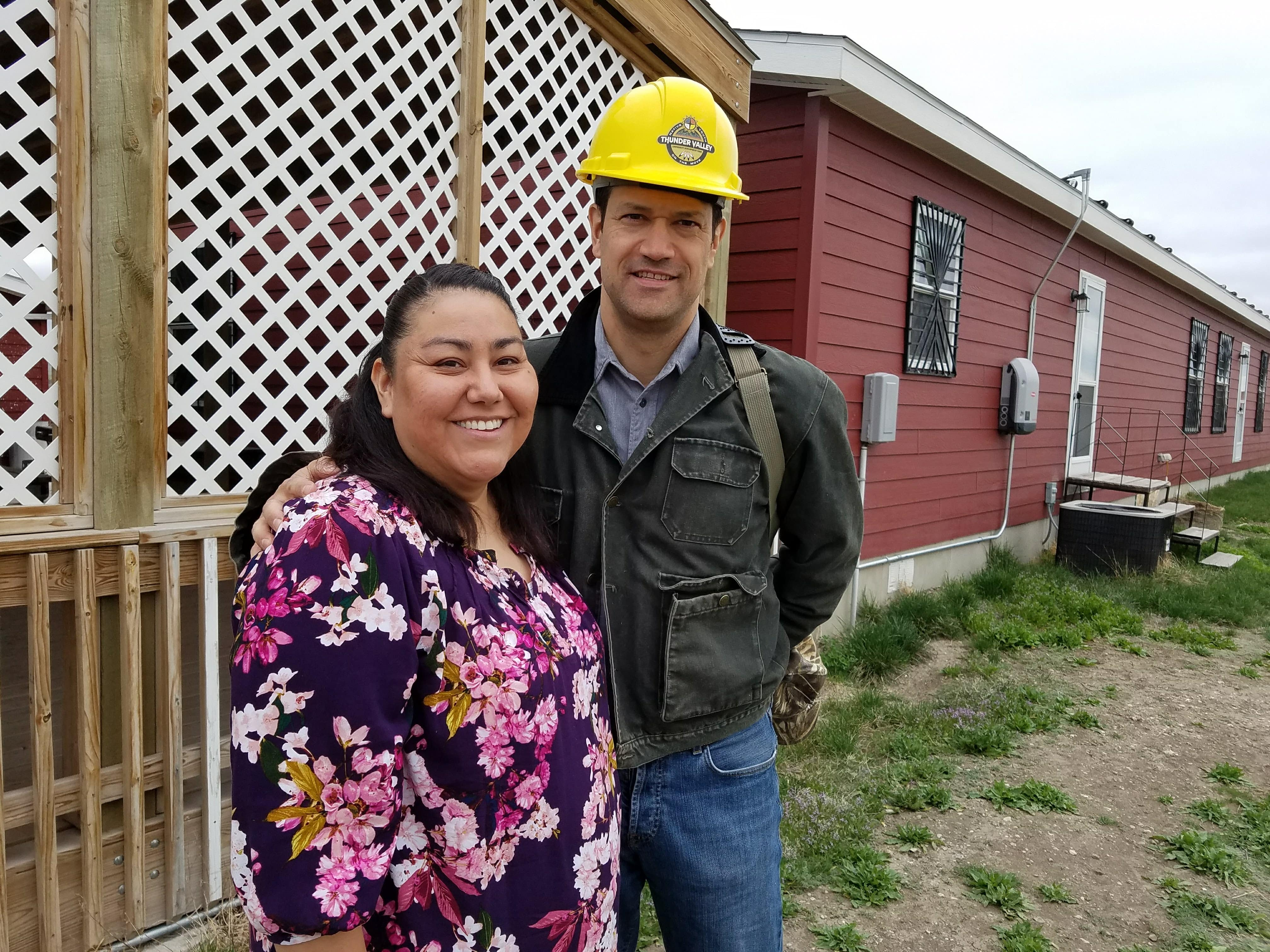 HAC CEO David Lipsetz tours housing projects on the Pine Ridge reservation