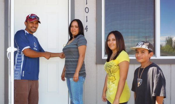 The Bolanos Family Opening The Door To Their New Home