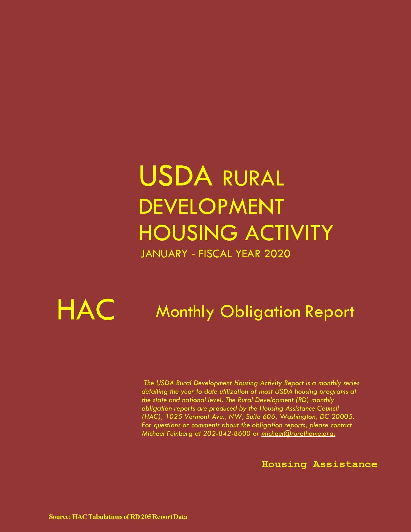 Rural Development Recent Obligations Report