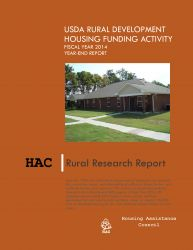 USDA Rural Development Housing Funding Activity FY 2014