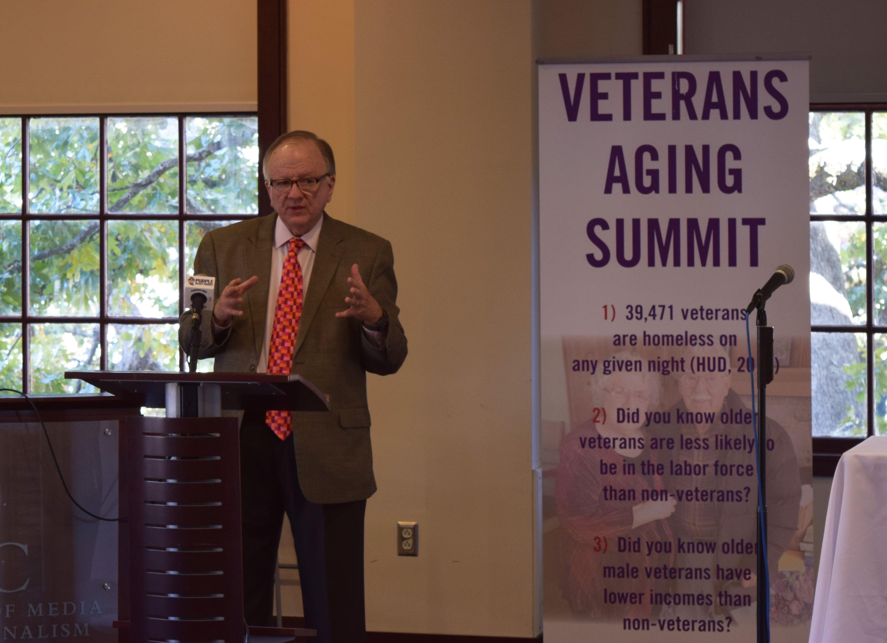 HAC's Joe Belden speaking at the Aging Veterans Summit