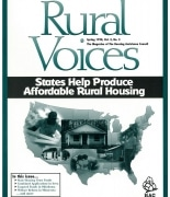 The Spring 1998 Issue of Rural Voices - Cover