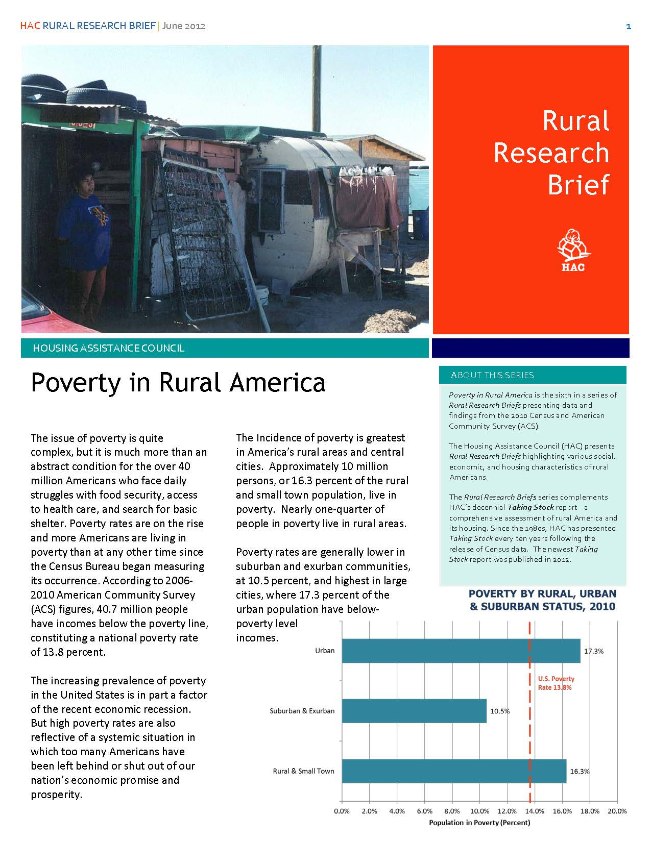 Poverty in Rural America Research Brief