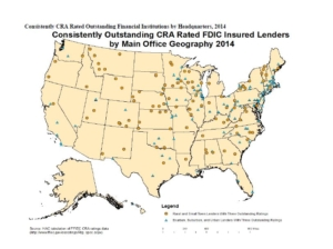Outstanding CRA Institutions Map