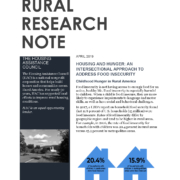 Addressing Food Insecurity: Research Note Cover