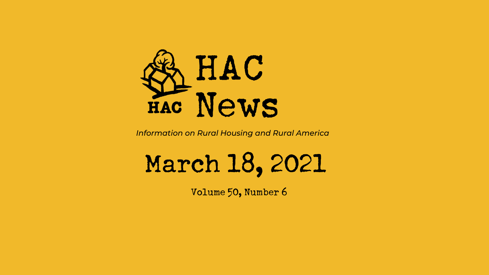HAC News - 3/18/2021