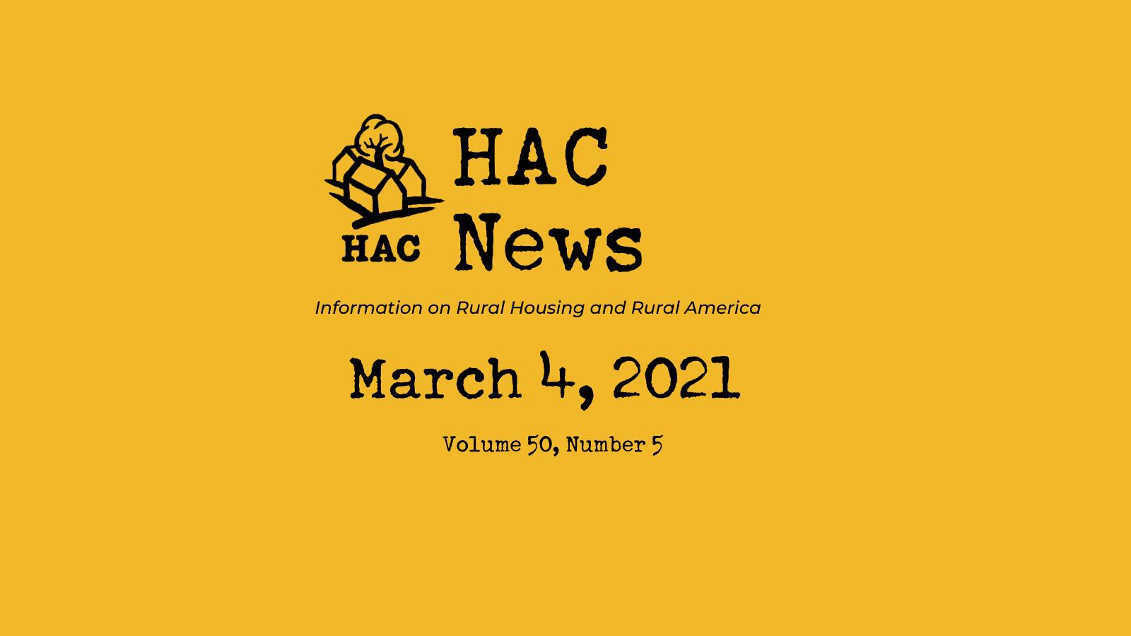 HAC News - 3/4/2021