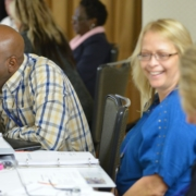 Participants working together during a HAC Section 502 Direct Application Packaging Training
