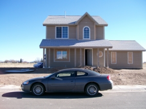 A nearly-completed lease-to-own home built by CRHDC in Alamosa.