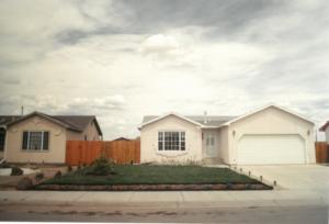 Two completed self-help homes in El Milagro.