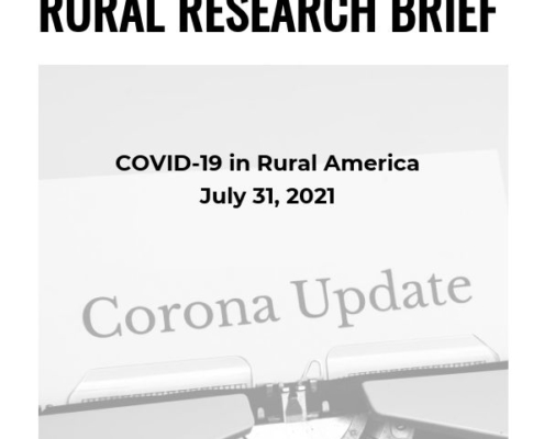 Covid-19 in rural America Rural Research Brief Cover - July 31, 2019
