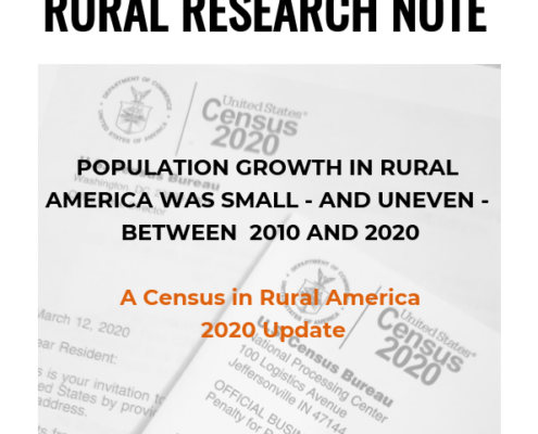 POPULATION GROWTH IN RURAL AMERICA WAS SMALL - AND UNEVEN - BETWEEN 2010 AND 2020