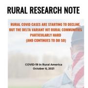 Rural Research Note: Covid-19 in Rural America